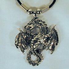 12 FLYING DRAGON BLACK ROPE NECKLACE 18 IN mens womens jewelry beads JL239 BULK