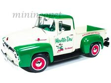 AUTOWORLD AW211 1956 56 FORD F-100 PICK UP TRUCK MOUNTAIN DEW 1/18 GREEN WHITE