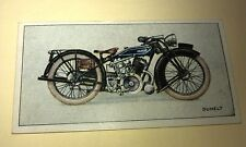 DUNELT Motorcycle - Wills New Zealand Cigarette Card Issued 1926