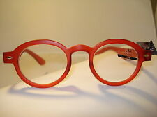 AUTH MONTANA VINTAGE DESIGNER PREPPY ROUND READING GLASSES READERS RED 3.00
