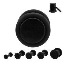 lot de 9 piercings plugs noir acrylique taille de 1.6 mm à 10 mm
