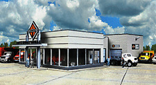 INTERNATIONAL TRUCK DEALERSHIP Showroom Workshop kit HO 1/87 scale Walthers 4025