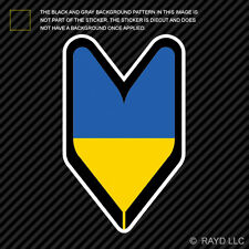 Ukrainian Driver Badge Sticker Decal wakaba leaf soshinoya Ukraine UKR UA