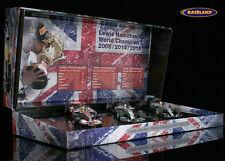 F1 Geschenkset Lewis Hamilton mit 3 Modellen 2008,2014,2015, Minichamps 1:43 NEW