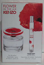 Kenzo Flower In The Air Eau De Parfum 100 ml + Taschenspray 15ml EdP SET NEU