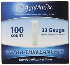 AgaMatrix WaveSense Ultra-Thin 33 Gauge Lancets 100 Count