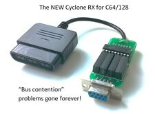 NUOVO! CICLONE RX PLAYSTATION JOYSTICK GAMEPAD ADATTATORE PER COMMODORE C64 C128.