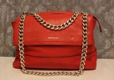 Karen Millen Santa Monica Red Leather Chain Fold Shoulder Hand Bag