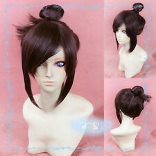 New Overwatch OW Dr. Mei-Ling Zhou Chestnut Color Short Styled Cosplay Wig