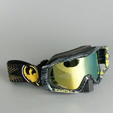 New Adult Vendetta Dragon Rockstar Goggles Motocross BMX Gold Lens