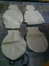 Leather Seat Covers For 2001-10 JEEP GRAND CHEROKEE BEIGE NEW!