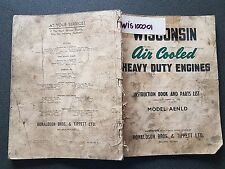 WISCONSIN HEAVY DUTY ENGINES VH4 VH4D AIR COOLED INSTRUCTION BOOK PARTS LIST