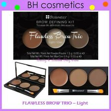NEW BH Cosmetics FLAWLESS EYE BROW TRIO Palette-Light Shades FREE SHIPPING BNIB