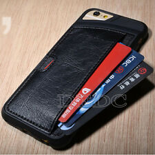 Hot Genuine PU Leather Wallet Cover Flip Skin Case  For iPhone 4/4S Black