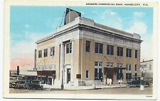 Growers Commercial Bank Haines City Florida FL Vintage Postcard