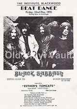 Black Sabbath Vintage Concert Poster Beat Dance UK 1970 A3 size Repro