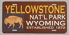 YELLOWSTONE NAT'L PARK souvenir license plate Wyoming Montana Idaho topper 2009