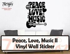 Peace, Love, Music II Custom Vinyl Wall Sticker