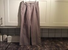 Ladies new size 12 light brown linen/cotton mix trousers from next