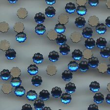 2612 6mm BB *** 4 STRASS SWAROVSKI FLAT BACK JELLY FISH 6MM BERMUDA BLUE