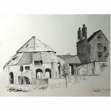 Glass Blowing Kiln Redcliffe Bristol Monochrome Watercolour Holloway Savages