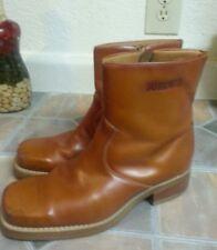 Durango Cognac Leather Ankle Boots Shoes Trucker Western Men's Sz 9.5 D EUC