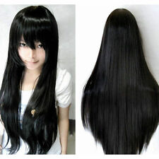 80cm Long Straight Cosplay New Fashion Wig Multicolor heat resistant Full Wigs
