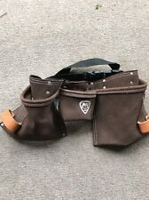 Carpenter Nail Apron Tool Belt Pouch McGuire-Nicholas 490 Suede Leather Nice!