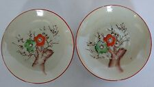 Childs Tea set Replacement parts - two saucers TREE and flowers for repurposing