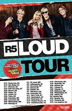"R5/ROSS LYNCH FROM AUSTIN & ALLY ""LOUD TOUR"" 2013 NORTH AMERICAN CONCERT POSTER"