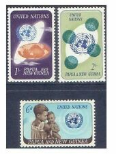 Papua New Guinea 1965 UNITED NATIONS Set(3) Unhinged Mint SG79-81