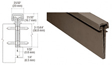 Dark Bronze Anodized 350 Series Heavy-Duty Concealed Leaf Continuous Hinge
