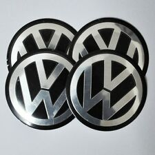 Set of 4pcs 90mm VW Wheel Center Hub Caps Decal Emblem Logo Jetta Golf Passat 4x