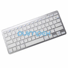 Bluetooth BT KEYBOARD TASTIERA WIRELESS argento per Smartphone Tablet PC