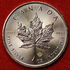 2014 CANADIAN MAPLE LEAF DESIGN 1 oz .999% SILVER ROUND BULLION COLLECTOR COIN