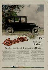 1918 Willys Overland Car Auto Ad / Open Small-Light Sedan - Great Outdoor Scene!