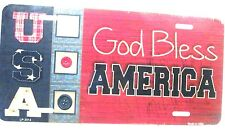 God Bless America Patriotic license plate Religious new aluminum auto tag lp2514