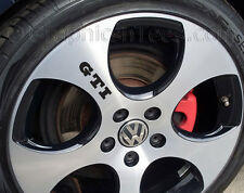 GTI Alloy Wheel Stickers, Golf, Lupo, Polo Alloy Wheel Decal Graphic - X5