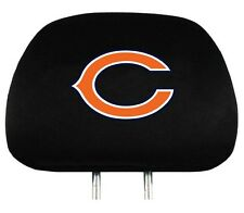 CHICAGO BEARS CAR AUTO 2 TEAM HEADREST COVERS NFL FOOTBALL