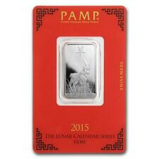 10 gram Silver Bar - Pamp Suisse (Year of the Goat) #27115v2 Lot 1170J