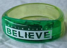 Rare Justin Bieber GREEN GLOW Believe Concert Tour Bracelet silicone light up