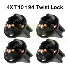 4x T10 194 Instrument Panel Cluster Dash Light Lamp Twist Lock Sockets For Chevy