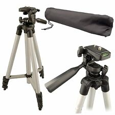 "UNIVERSAL 50"" PORTABLE CAMERA CAMCORDER TRIPOD STAND WITH CASE"