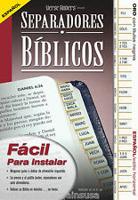 Spanish Separadores Biblicos Bible Tabs Easy Install Full Set Brand New