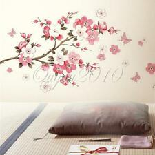 WALL STICKER CARTA PARATI ADESIVI MURALI DECAL PLUM BLOSSOM FIORE E FARFALLA NEW