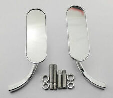 Chrome Arlen Ness Mini Oval Motorcycle Mirror For Harley Dyna Softail Sportster