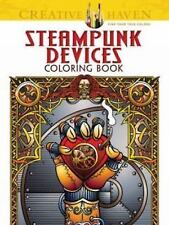 Dover CREATIVE HAVEN STEAMPUNK DEVICES Adult Coloring Book Jeremy Elder 2014