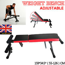 GYM SPORTS DUMBBELL WEIGHT BENCH FLAT INCLINE DECLINE FITNESS WORKOUT WEIGHTS