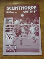 17/10/1995 Scunthorpe United v Bury [Auto Windscreens Shield]  (Item has no appa