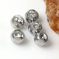 10pcs 3mm Clear Crystal Piercing Jewelry Replacement Balls For Nose Ear Rings